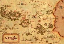 A map of the fictional land of Narnia.