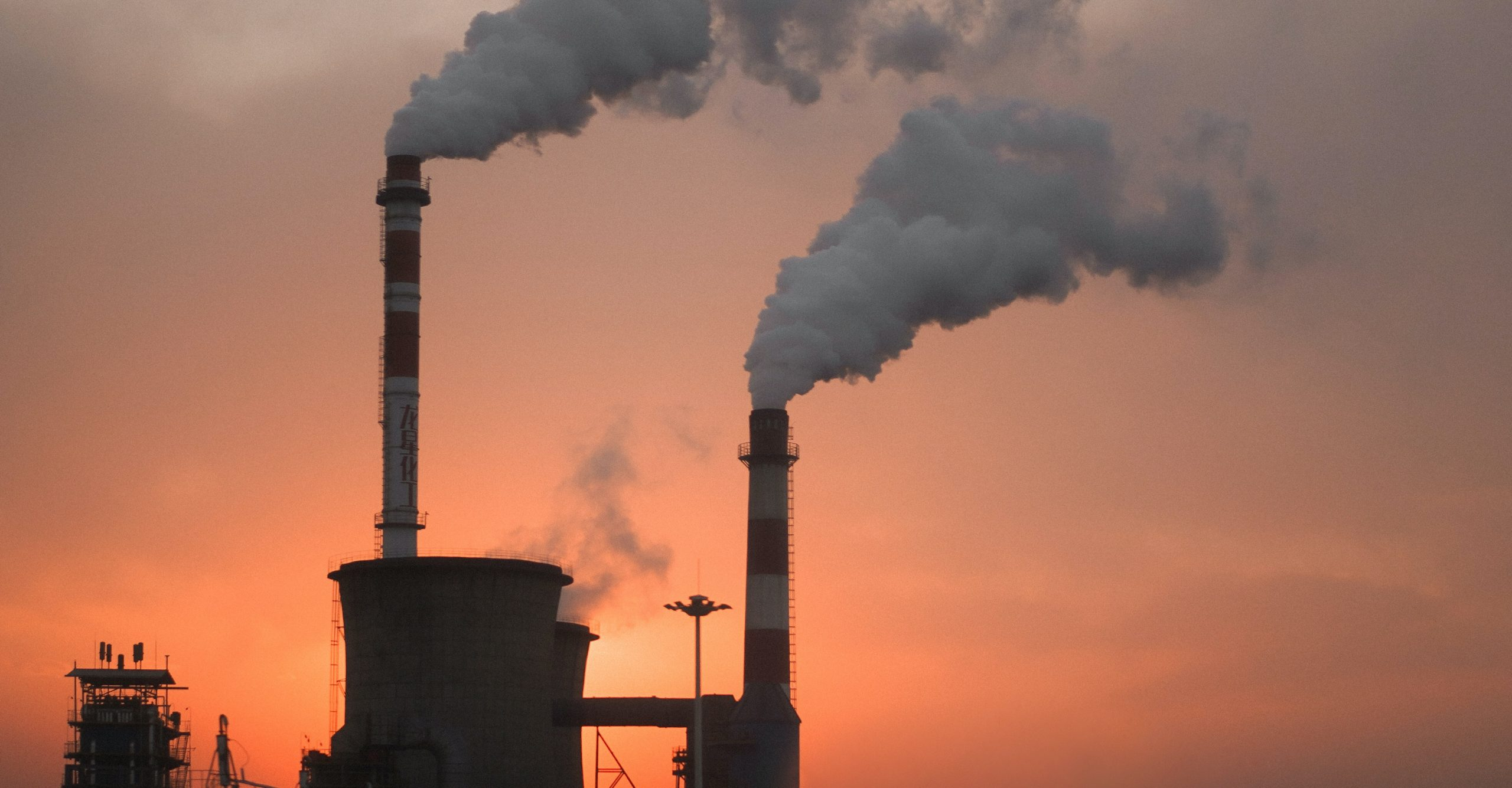 An image of pollution being produced by a factory