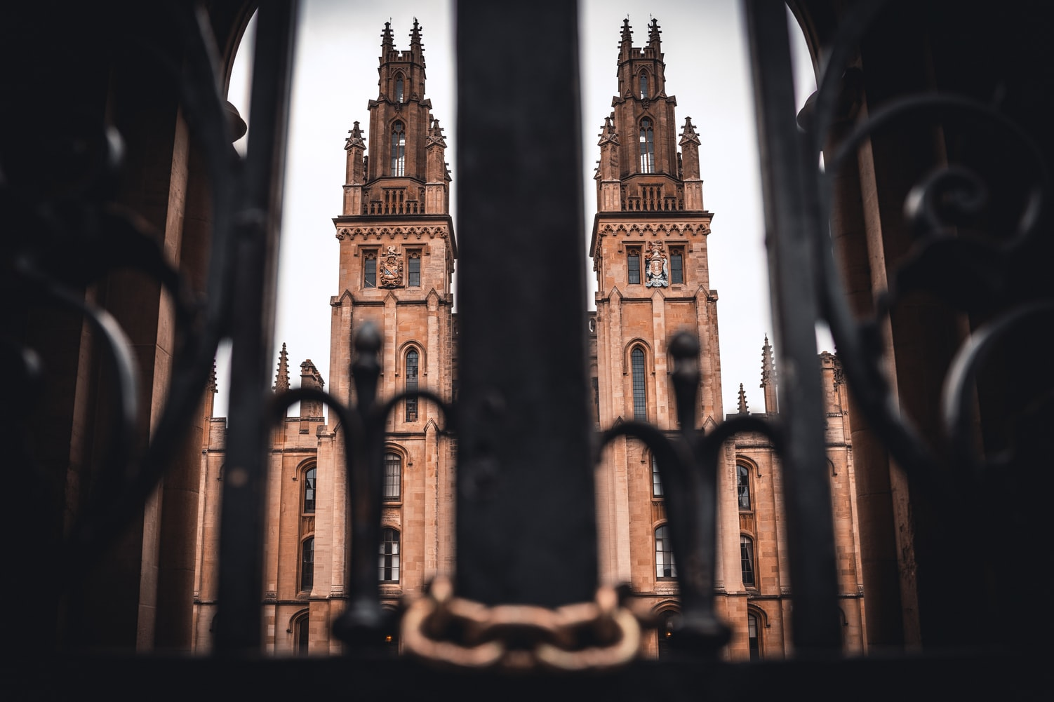 All souls college seen through a gate
