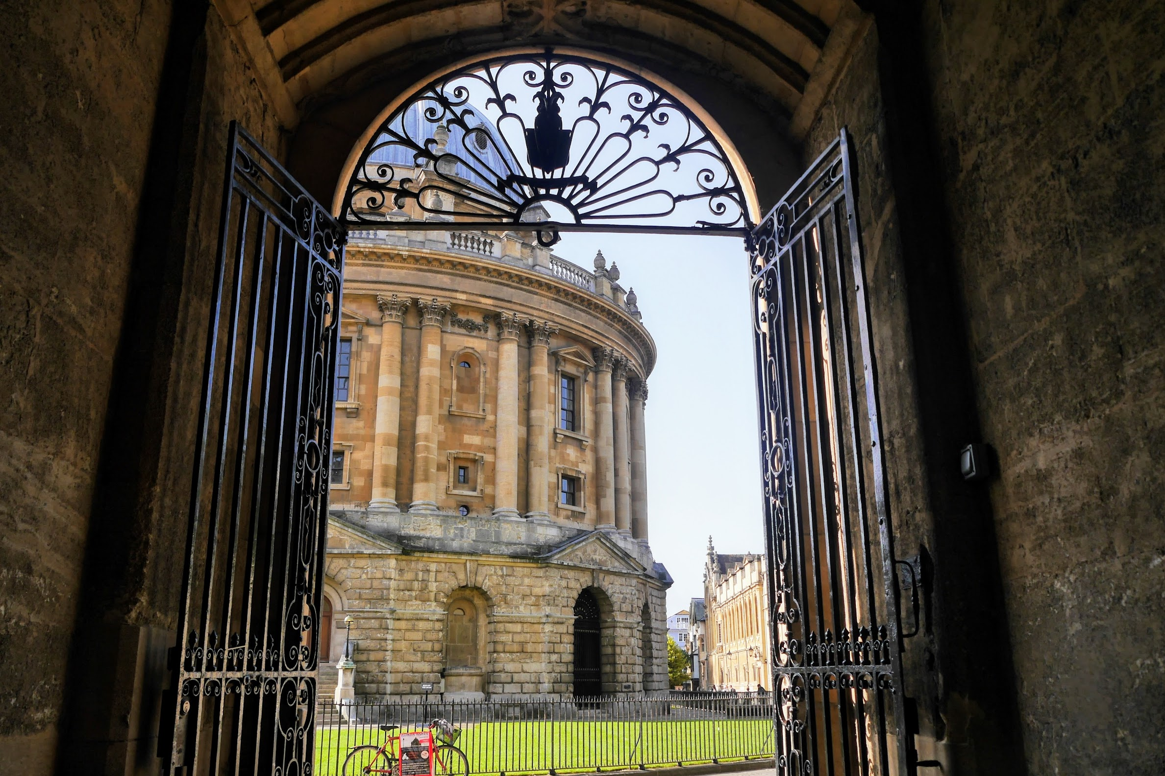 A photo taken of the Radcliffe Camera.